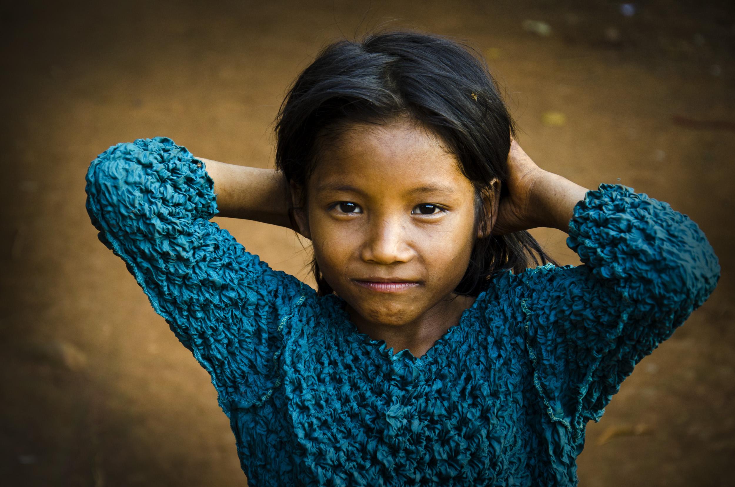 Ethnic Minority Krung (kreung) Girl, in Ratanakiri Province
