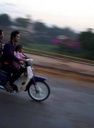 Young Family on Moto