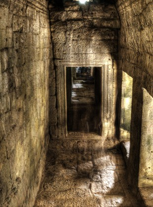 Mysterious Passageway at Bayon Temple, Cambodia