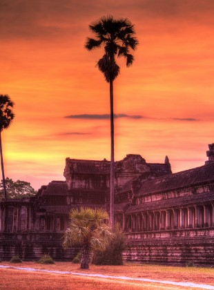 Dawn at Angkor Wat Temple, Siem Reap