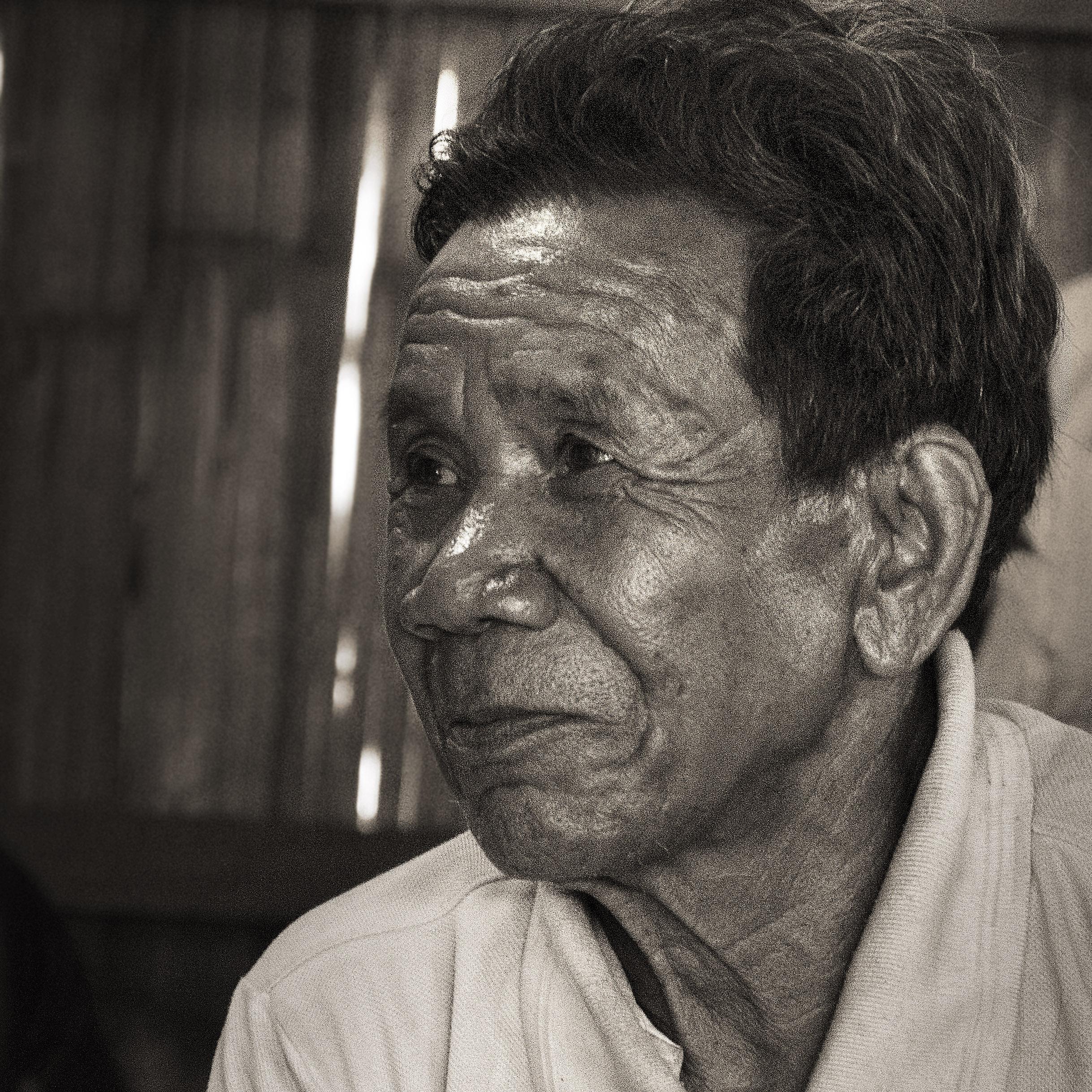 indigenous minority Kreung man in Ratanakiri province, cambodia