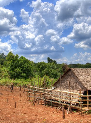 Tribal Farm House in Cambodia