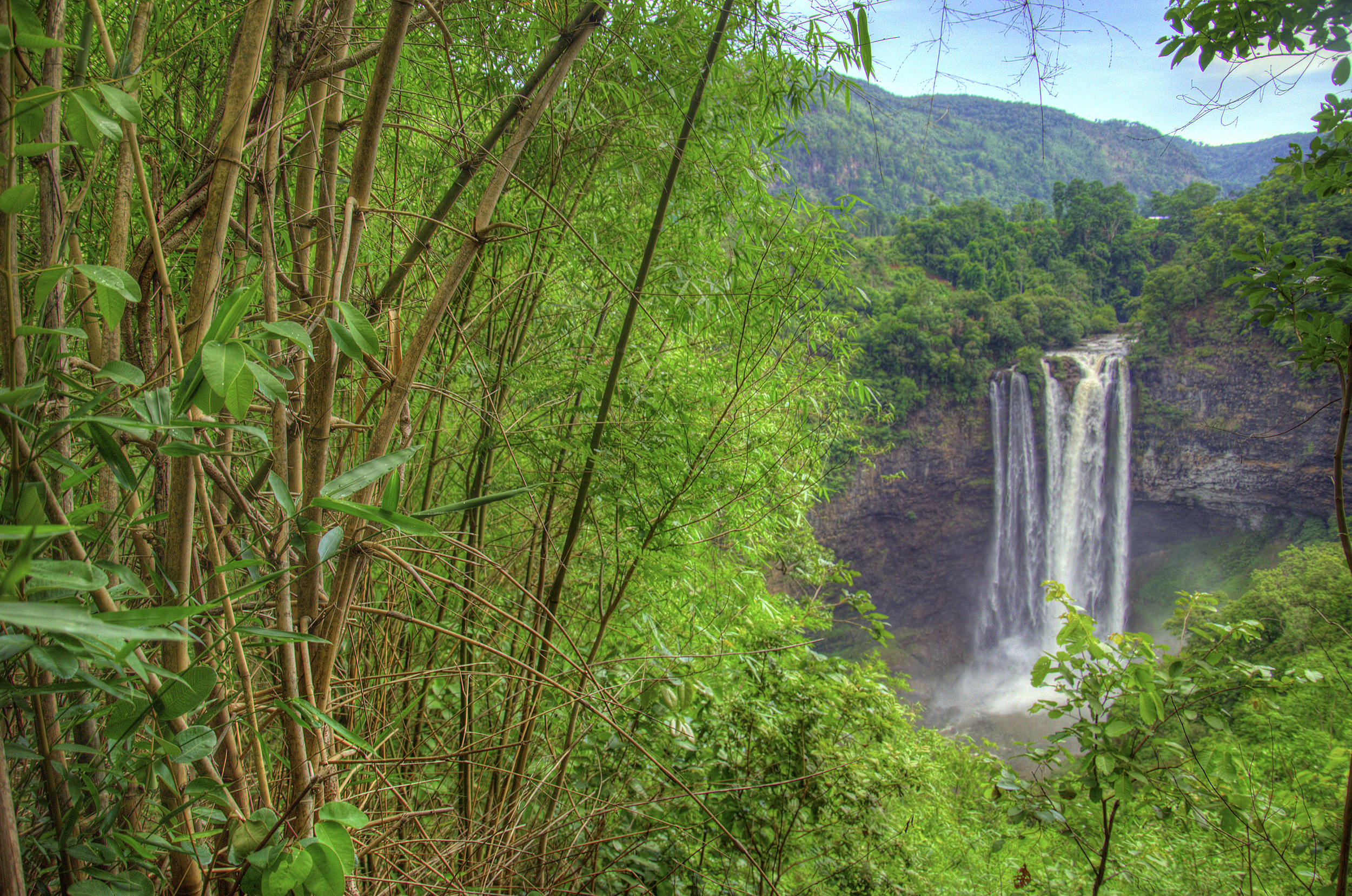 The highilght of the bolaven plateau - Tat Katamtok Waterfall