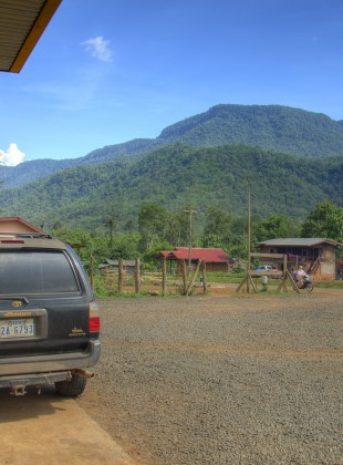 filling with petrol in laos