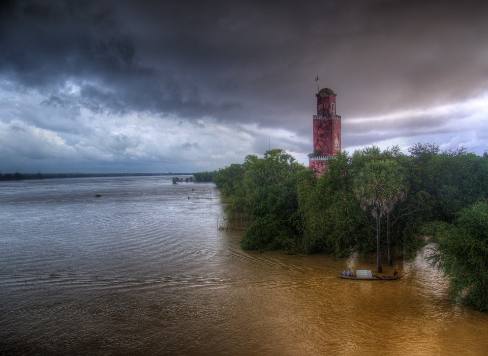 Old tower in Kampong Cham, Cambodia