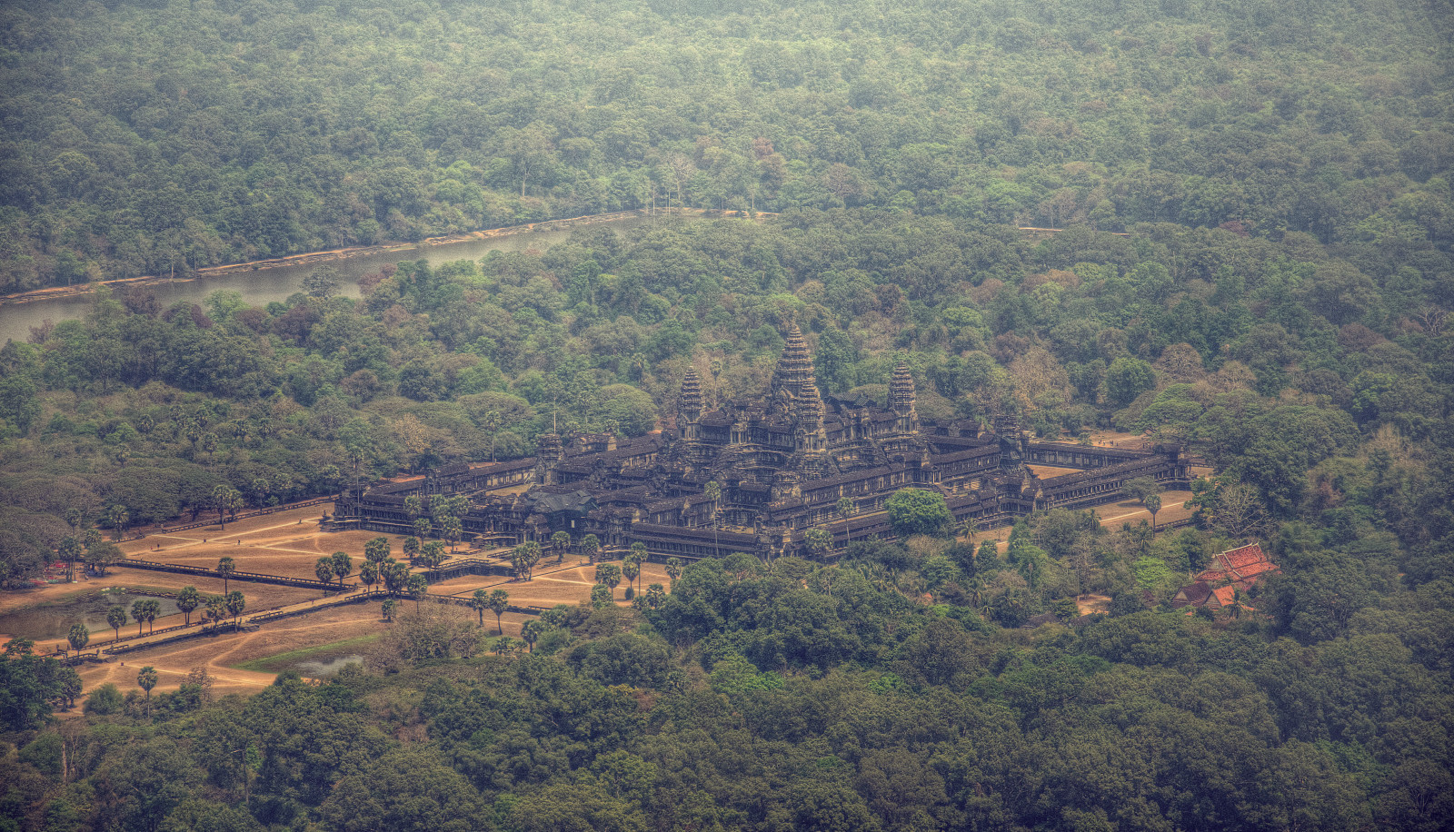 Angkor from a helipcopter