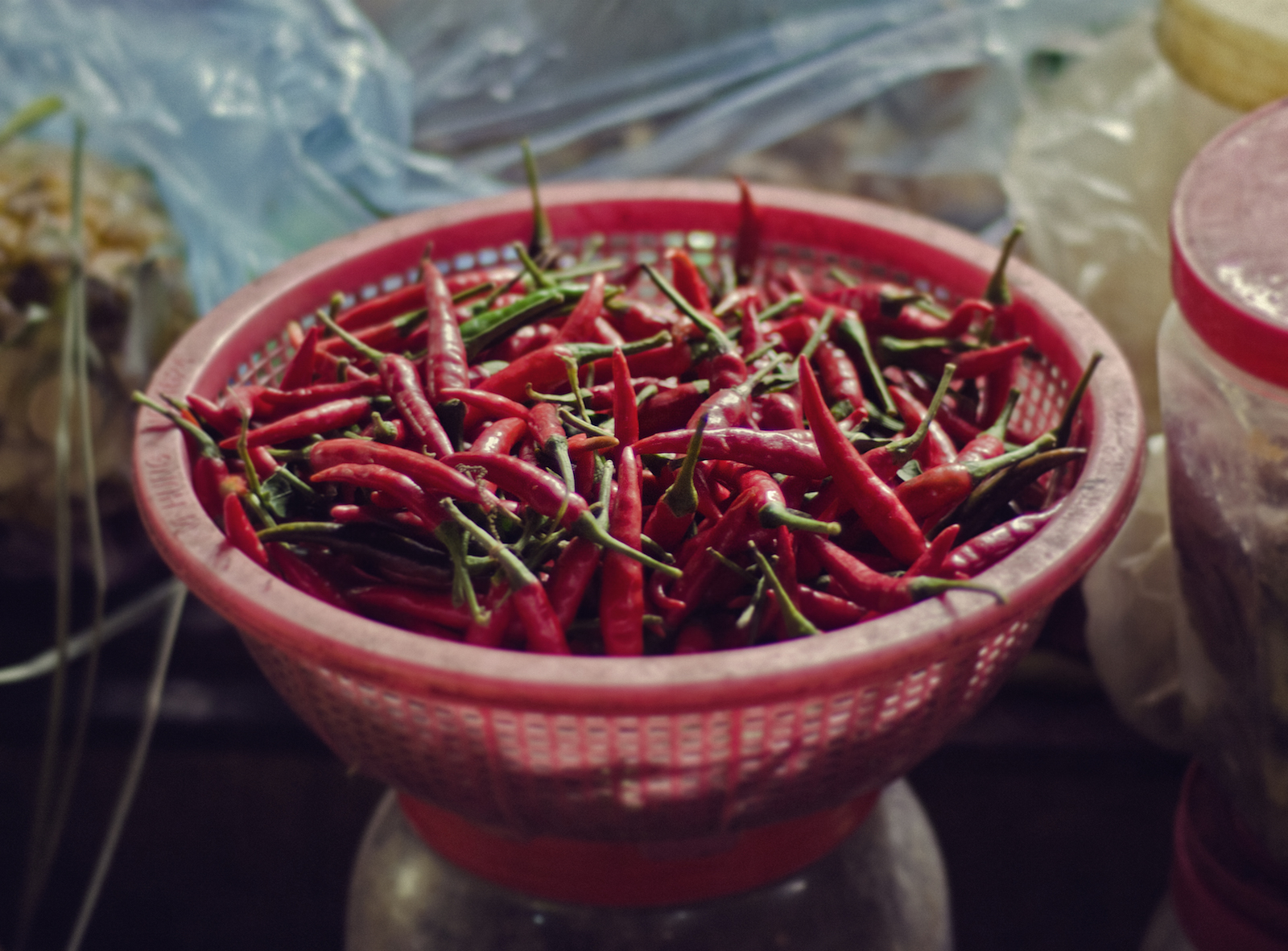 Spicy red thai peppers